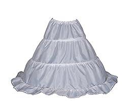 Cinda Clothing Baby Girls\' Flower Bridesmaid 1 Layer 3 Hoop Underskirt Petticoat One Size White