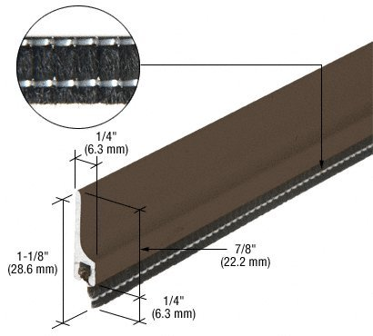 CRL 36'' Dark Bronze Anodized Extruded Aluminum Entrance Door Sweep with Concealed Fasteners