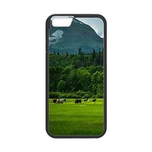 Vinceryshop Horse IPhone 6 Cases Wild Horses 3, Anti Fall Horse, {Black}