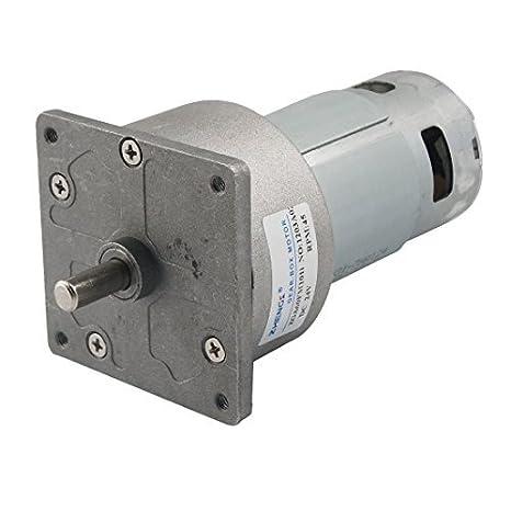 DealMux 60 milímetros de diâmetro 45RPM saída velocidade 24V 1.5A DC Motor engrenado - - Amazon.com