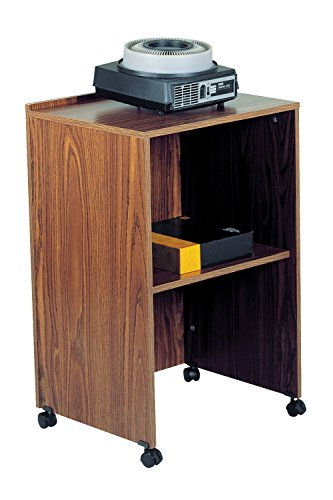 Oklahoma Sound Mobile Presentation Multimedia Teaching Desktop Laptop AV Cart Lectern Base Walnut Electronics, Accessories, Computer