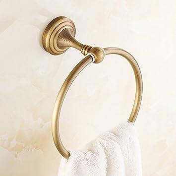 Anillo de cobre toallas toallas cuartos de baño accesorios para el moderno hotel de estilo, de montaje en pared en el baño del hotel: Amazon.es: Bricolaje y ...