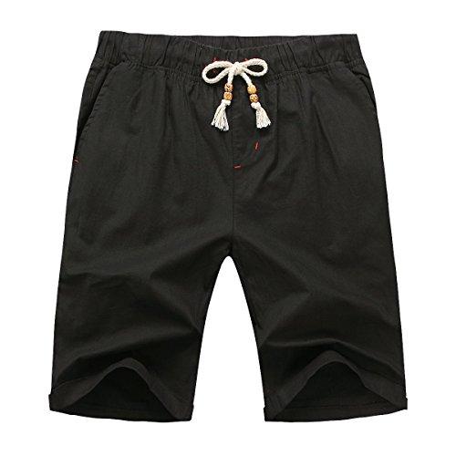 manwan-walk-mens-linen-casual-classic-fit-short-b311-x-large-black