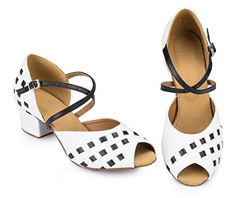 TDA - Zapatos con tacón mujer 4.5cm Heel White