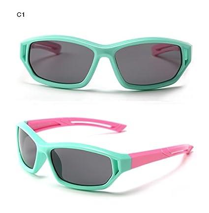 Baianf Deporte Exterior Infantil bebé niños Gafas Sol UV400 Gafas de Moda Gafas de Sol polarizadas