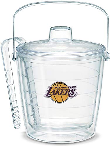 Tervis 1052263 NBA Los Angeles Lakers Primary Logo Ice Bucket with Emblem and Clear Lid 87oz Ice Bucket, Clear