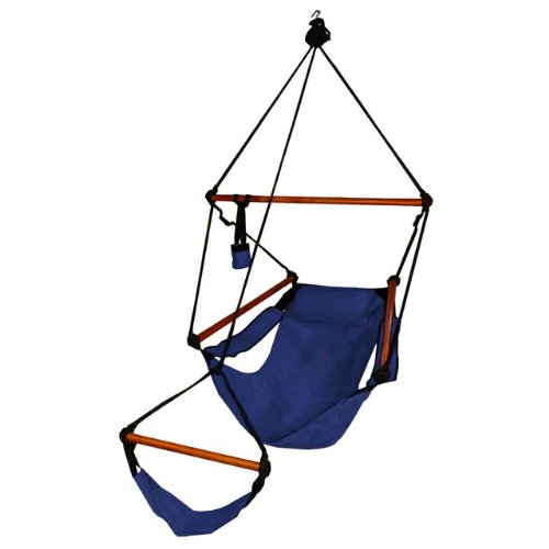 Blue Camping Air/sky Hanging Chair with Pillow Outdoor Porch Swing Hammock, Outdoor Stuffs