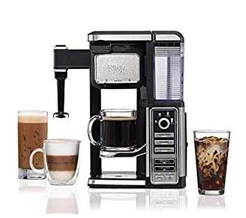 Ninja Single-Serve, Pod-Free Coffee Maker Bar with Hot and Iced Coffee, Auto-iQ, Built-In Milk Frother, 5 Brew Styles, and Water Reservoir CF111 Renewed