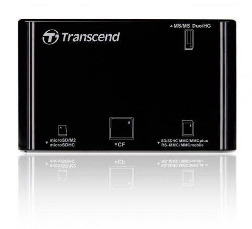 Transcend P8 15-in-1 USB 2.0 Flash Memory Card Reader TS-RDP8K (Black)