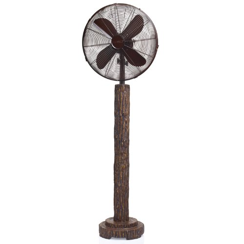 DecoBREEZE Pedestal Fan 3 Speed Oscillating Fan, 16 In, Fir Bark