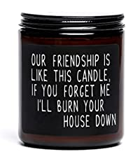 Best Friend Candle Gift for Women, Our Friendship is Like This Candle, Funny Friendship Birthday Gift, Move Away Present for Friends, BFF, Bestie (Brown)