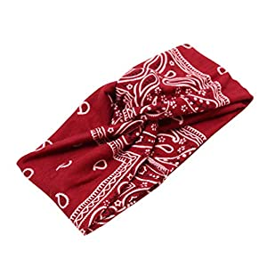 Givekoiu 2019 Vintage Hairbands Floral Printed Twisted Elastic Headbands Women and Girls Hair Accessories Headwraps Hair…