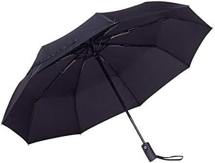 Rain-Mate Compact Travel Umbrella - Windproof, Reinforced Canopy, Ergonomic Handle, Auto Open/Close Multiple Colors