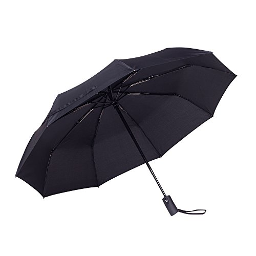Canopy Windproof Umbrella (Rain-Mate Compact Travel Umbrella - Windproof, Reinforced Canopy, Ergonomic Handle, Auto Open/Close Multiple Colors)