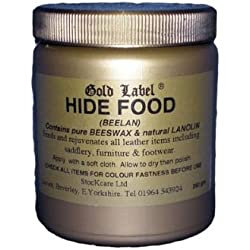 William Hunter Equestrian Gold Label Hide Food, 250g - an Original Nutrient Leather Food Based on Beeswax and Lanolin