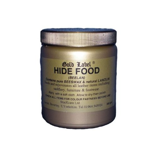 Gold Label Hide Food, 250g - An original nutrient leather food based on Beeswax and Lanolin