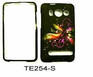 HTC EVO 4G TRANSPARENT DESIGN CUPID WITH STARS SNAPON, CASE, COVER, FACEPLATE