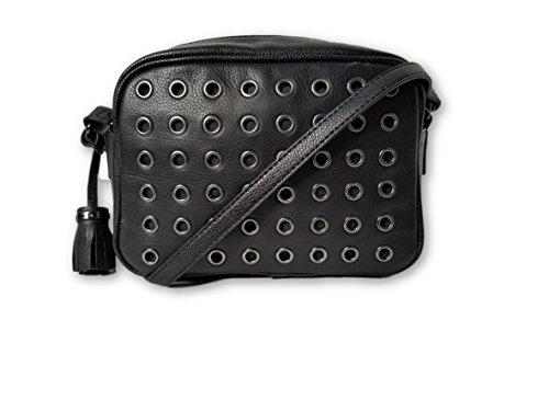 Leather Handbag FOX Crossbody Leather Camera EMMA Bag Luna Black POx8pqpYw
