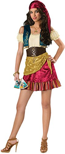 [UHC Teen Girl's Gypsy Princess Traditional Theme Party Halloween Costume, JR S (1-3)] (Gypsy Costumes Girl)