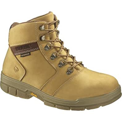 Men's Wolverine 6 inch Barkley Waterproof 400 grams Thinsulate Ultra Insulated Steel Toe EH Boots, GOLD, 7