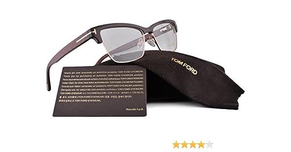 4dae9f11cce3 Amazon.com  Tom Ford FT5364 Eyeglasses 53-15-140 Havana Dark Shiny Brown  048 TF5364 5364 For Women  Clothing