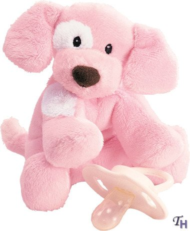 Spunky Puppy Baby Rattle - Pink (Baby Puppy Rattle)
