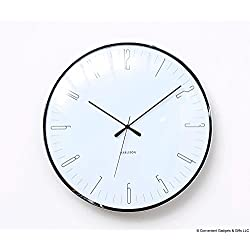 Modern Wall Clock - Dragonfly - Unique & Contemporary Wall Clock (White)