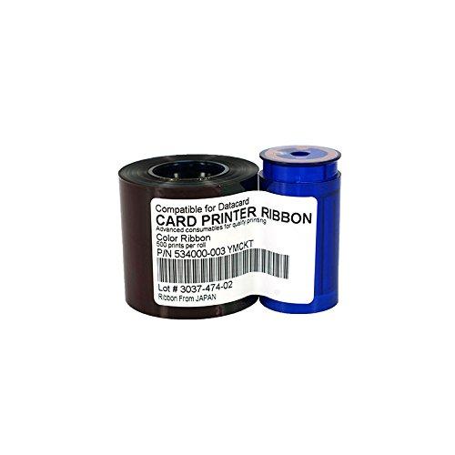 Xligo 534000-003 YMCKO Ribbon 552854-504 Printer Color Ribbon 500rints/roll for Datacard SD260 SD360 SP35 SP55 SP75 Plus Ribbon