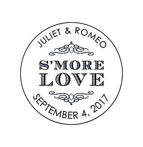 Custom Wedding Stickers F1:37 Candy Buffet Labels Treat Bag stickers Smore Love Wedding Stickers Custom Stickers for Favors Smore Favor Stickers