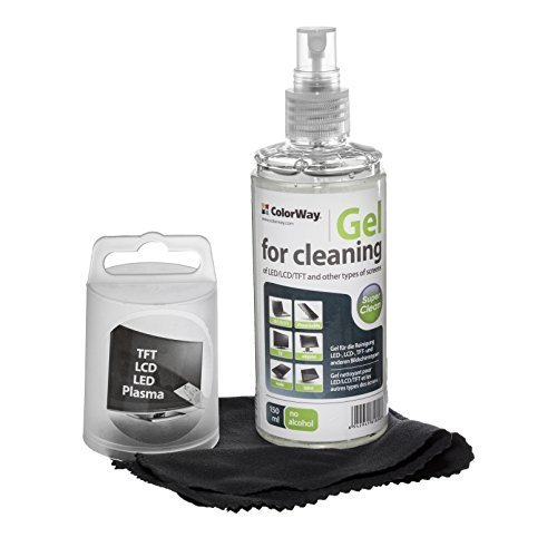 Lcd Screen Gel Cleaner (Colorway Screen Cleaning Gel Kit with Microfiber Cloth and Cleaner Gel Spray. Screen Cleaner for Laptop displays, Computer Monitors, TV's, LCD, LED, Tablets and Cleaner for other Electronics (CW-5151))