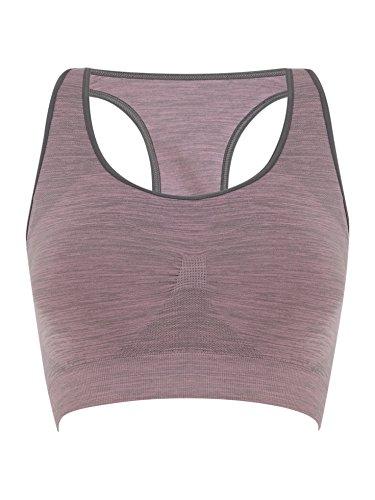 Pimienta & Mayne sin costuras para mujer sujetador deportivo rosa