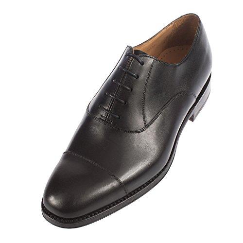John Spencer, Hommes Chaussures Richelieu À Lacets Noir Blanc