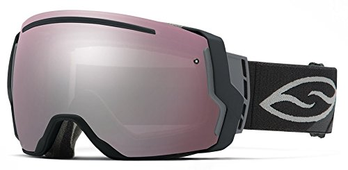 Smith Optics I/O7 Vaporator Series Snocross Snowmobile Goggles Eyewear - Black/Ignitor/Red Sensor / Medium by Smith Optics