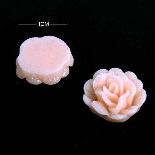 Yesurprise 20pcs Acrylic 3D Big Flower Stickers Beads Nail Art Tips DIY Decorations Orange