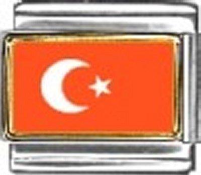 Turkey Photo Flag Italian Charm Bracelet Jewelry Link