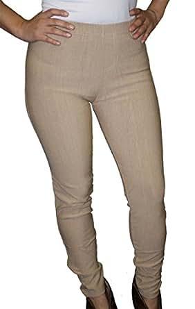 Dona Michi Hot New Basic High Waist Womens Skinny Jeans Jeggings_Beige