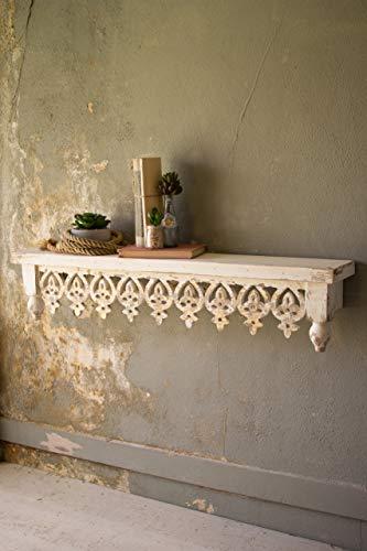 (BORNEO DECOR CCG1505 Hand Carved Wooden Shelf)