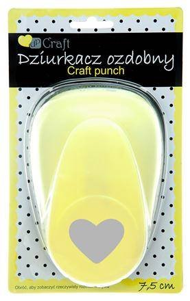 Large Craft punch 7, 6  cm (7.5  cm) cuore di biglietti per abbellimento Heart Craft punch 6 cm (7.5 cm) cuore di biglietti per abbellimento Heart Craft punch Decocraft