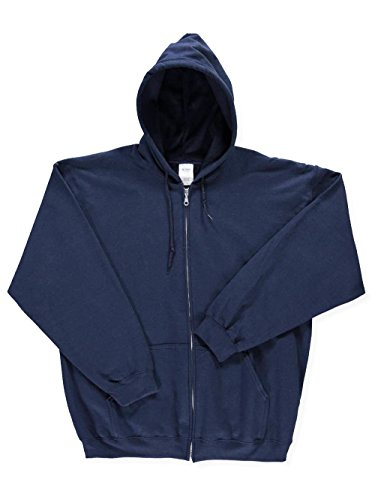 Gildan Basic Fleece Zip-Up Hoodie - navy, xxl