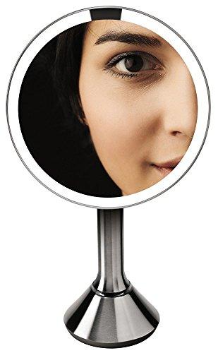 simplehuman 8 Inch Sensor Mirror, Lighted Makeup Vanity Mirror, 5x Magnification by simplehuman (Image #6)
