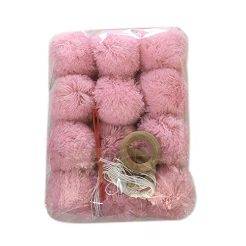 LBgrandspec Lovely Plush Balls Wall Hanging Decoration Kids Room Classroom Party Children's Room Girl Room Decorated Pink Hair Ball Character Ornaments Pink ()