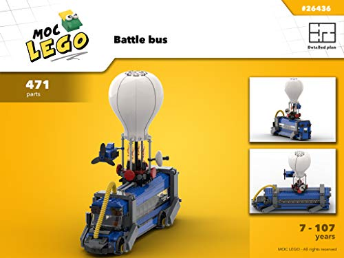 Battle bus (Video game) (Instruction only): Moc LEGO por Bryan Paquette