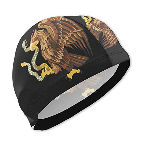 sport outdoor 003 Mexico Snake Bald Eagle Clip Art Swim Caps for Kids Boys and Girls Baby Bathing Caps for Long and Short Hair