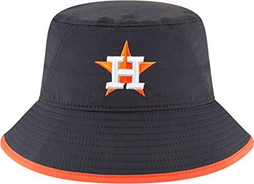 New Era Authentic MLB 2019 Clubhouse Collection Bucket Hat Stretch Fit : One Size Fit Most (Houston Astros) ()