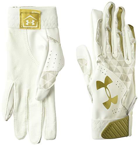 Under Armour Radar Baseball Glove, White//Metallic Gold, Medium
