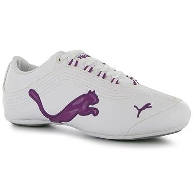 Ladies Puma Soleil Cat Trainers Grape Ladies Trainers White