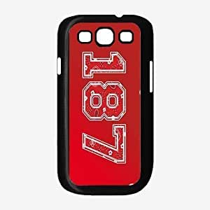 187 Red Paisley Background- TPU RUBBER SILICONE Phone Case Back Cover Samsung Galaxy S3 I9300