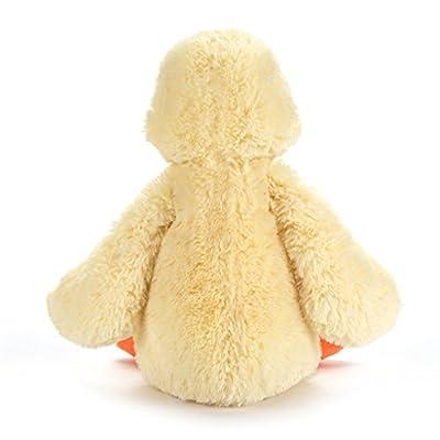 Jellycat Bashful Yellow Duckling Stuffed Animal, Medium, 12 inches: Toys & Games