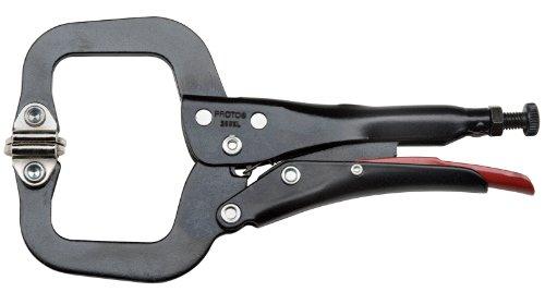 Proto - Locking Mini C-Clamp Pliers W/Swivel Pads - 6-1/2