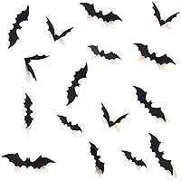 Boolavard DIY Halloween Party Supplies PVC 3D Decorative Scary Bats Wall Decal Wall Sticker, Halloween Eve Decor Home…